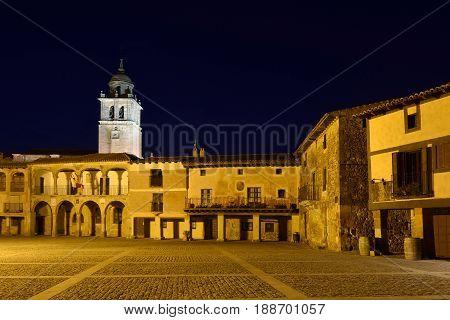 Main square of Medinaceli Soria province Catilla-Leon Spain