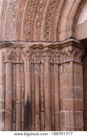 Door of the Cathedral of Siguenza Guadalajara province Castilla-La Mancha Spain