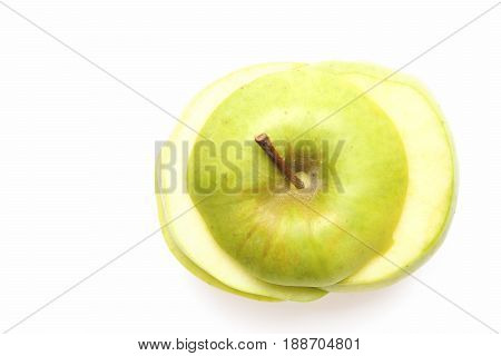 Slices Of Apple Placed On Each Other Making Whole Fruit