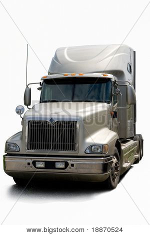 Semi truck Isolated on a white background.