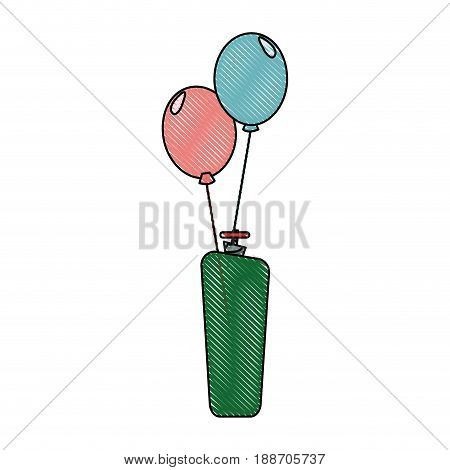 balloons helium filled festival carnival celebration vector illustration