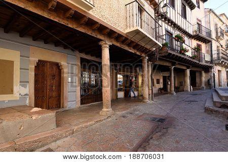 Arch of main square Selpulveda Soria province Spain