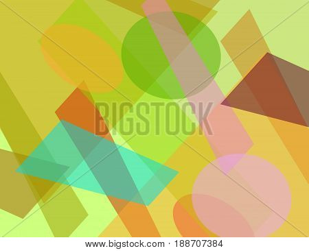 Colorful Geometric Technology Background for Your Design. Vector Illustration.