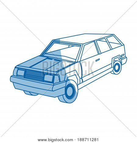 suv car sport utility vehicle cartoon vector illustration