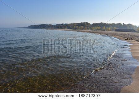 Sandy Beach at Holland State Park michigan