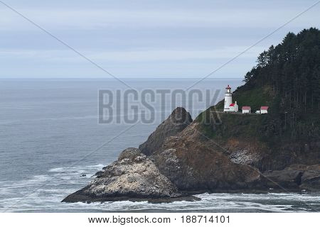 HECETA HEAD, OREGON, USA Heceta Head lighthouse on Oregon coast