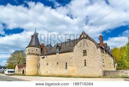 Chateau de Fougeres-sur-Bievre, one of medieval castles in France, the Loir-et-Cher department