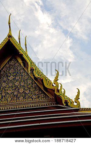 Thailand     Bangkok  Rain   Temple   Asia Sky    And  Colors Religion