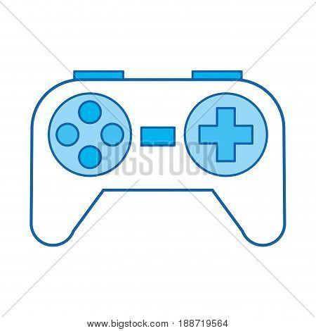 blue icon Control game cartoon vector graphic design