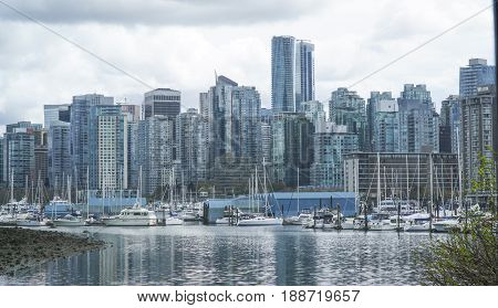 The Skyline of Vancouver - amazing view from Stanley Park -  CANADA