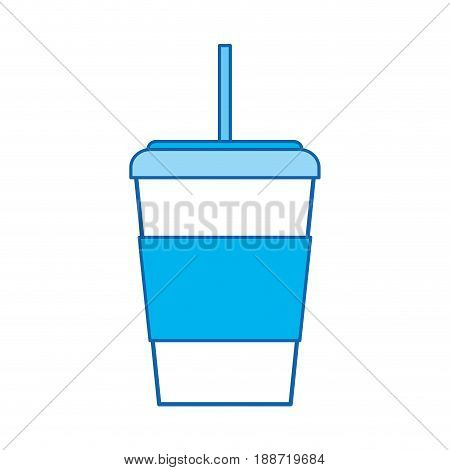 blue icon Disposable coffee cup cartoon graphic design