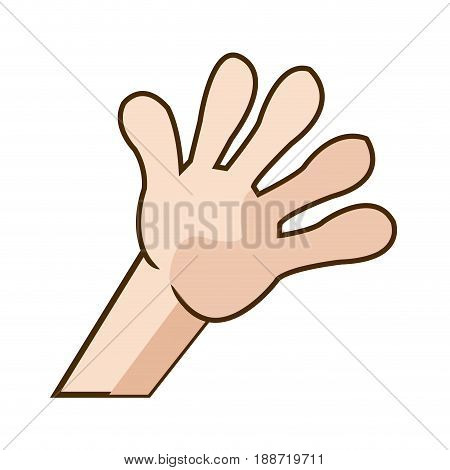 kid hand showing a five count image vector illustration