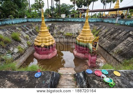 ShweguLay Pagoda in Bago the old capital cities of Myanmar.