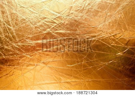 Crumpled Golden Texture
