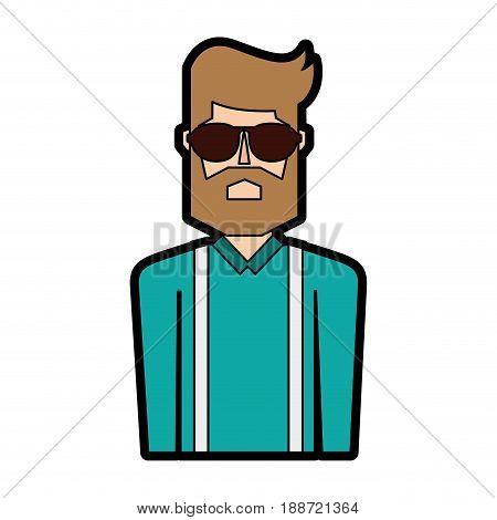 vintage upper body man cartoon vector graphic design