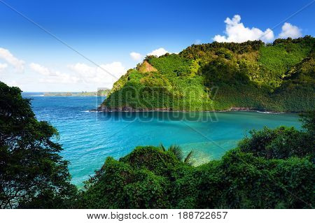 Beautiful Views Of Maui North Coast Seen From Famous Winding Road To Hana