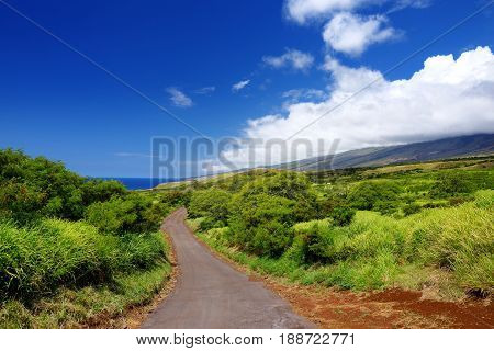 Beautiful Landscape Of South Maui. The Backside Of Haleakala Crater On The Island Of Maui