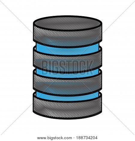 scribble Storage database disks vector graphic design