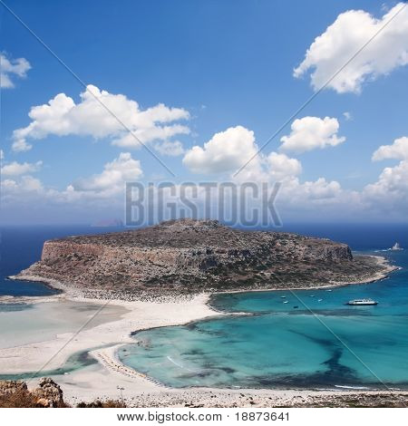 Santorini. Greek island. Place leisure