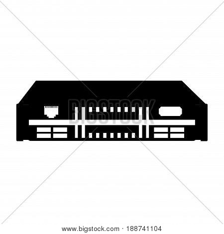 black icon black modem cartoon vector graphic design