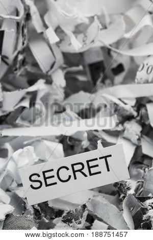 secret shredded paper
