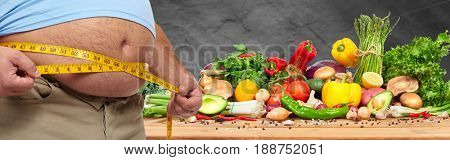 Obesity and healthy food.