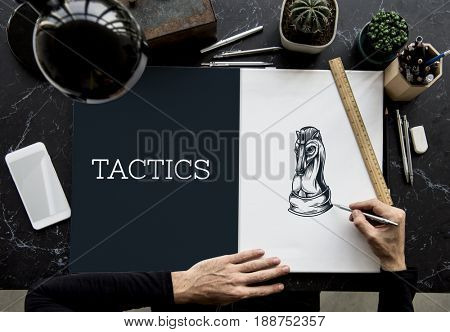 Chess Tactics Strategy Challenge Planning Horse Graphic
