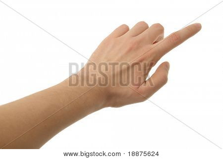 ein Foto von isolierten Hand with Clipping path