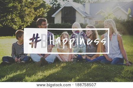 Family Happiness Memorable Outdoors Word Hashtag