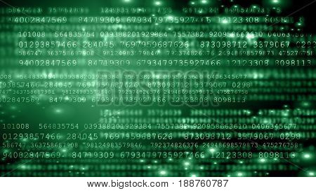Digital Background. Secure data concept. Digital flow, symbolizing data protection and digital technologies