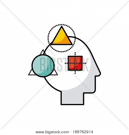 head geometric illustration icon vector illustration desgn graphic