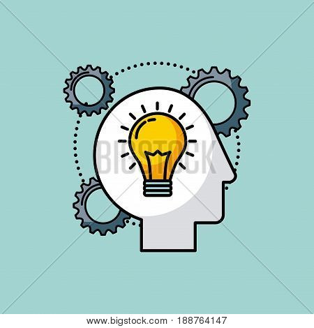 head sprockets human illustration icon vector design graphic colorful