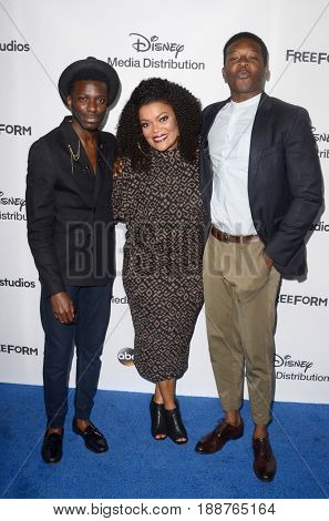 LOS ANGELES - MAY 21:  Bernard David Jones, Yvette Nicole Brown, Brandon Micheal Hall at the 2017 ABC/Disney International Upfront at the Walt Disney Studios on May 21, 2017 in Burbank, CA