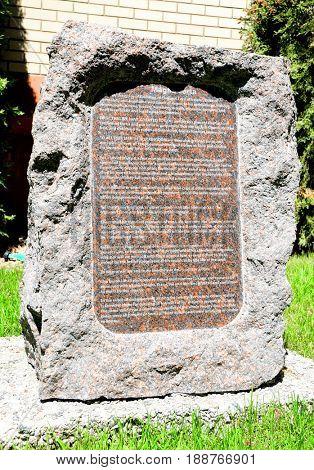 Granite monument commemorating the Magna Carta