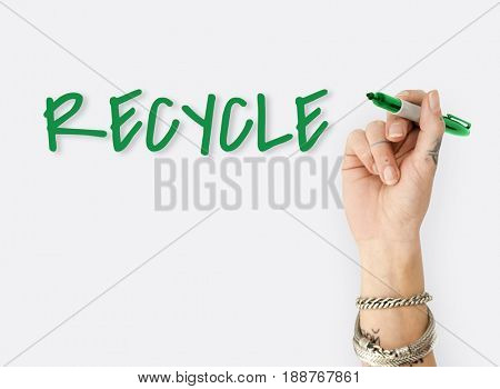 Recycle Reuse Responsibility to Nature Environment Word