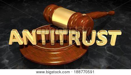 Antitrust Law Concept 3D Illustration