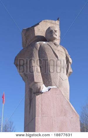 Lenin monument in Russia