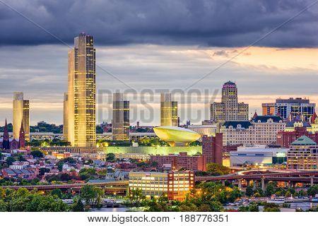 Albany, New York, USA downtown skyline.