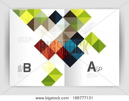 square template background with infographics
