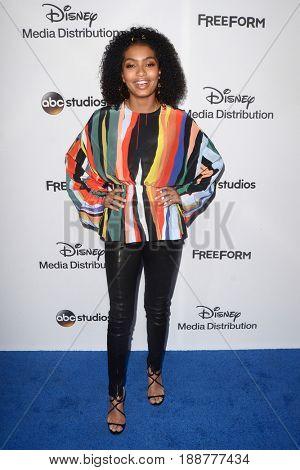 LOS ANGELES - MAY 21:  Yara Shahidi at the 2017 ABC/Disney Media Distribution International Upfront at the Walt Disney Studios on May 21, 2017 in Burbank, CA