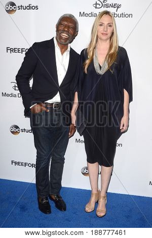 LOS ANGELES - MAY 21:  Vondie Curtis-Hall, Hope Davis at the 2017 ABC/Disney Media Distribution International Upfront at the Walt Disney Studios on May 21, 2017 in Burbank, CA