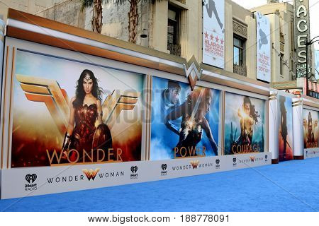 """LOS ANGELES - MAY 25:  Wonder Woman Atmosphere at the """"Wonder Woman"""" Los Angeles Premiere at the Pantages Theater on May 25, 2017 in Los Angeles, CA"""