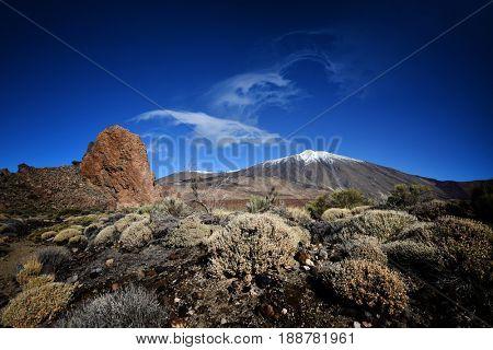 Teide National Park Roques de Garcia in Tenerife, Canary Islands