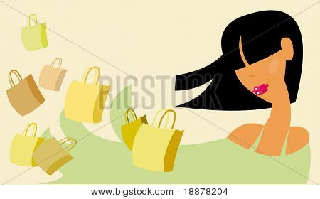 vector image of shopping concept