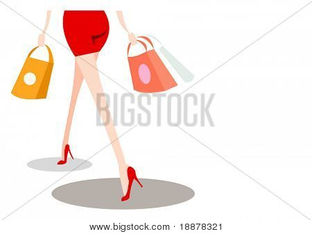 vector image for shopping cards and posters. isolated on white
