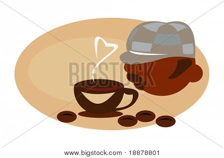 image for coffee break cards, posters and menu