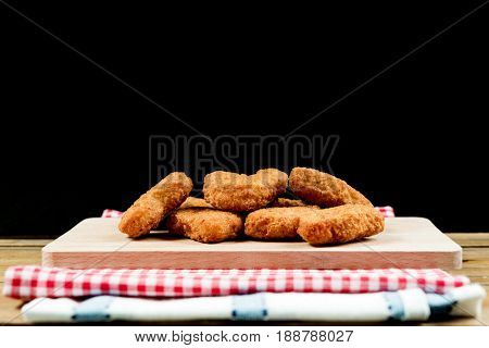 fried Chicken nuggets on table