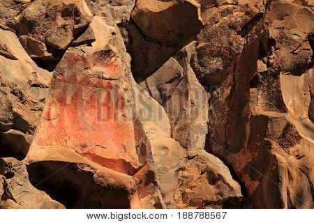 Ancient Rock Art, Gila Cliff Dwellings National Monument in the Gila National Forest, New Mexico