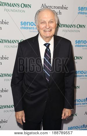NEW YORK-MAY 23: Actor Alan Alda attends the 2017 SeriousFun Children's Network Gala at Chelsea Piers, Pier 60 on May 23, 2017 in New York City.