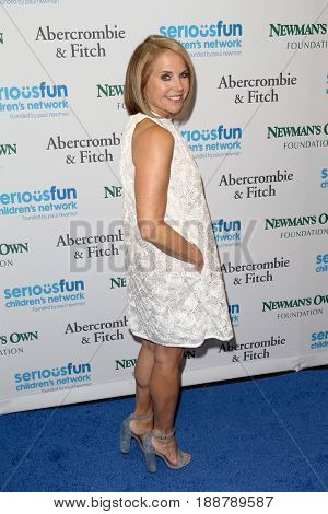 NEW YORK-MAY 23: TV Personality Katie Couric attends the 2017 SeriousFun Children's Network Gala at Chelsea Piers, Pier 60 on May 23, 2017 in New York City.